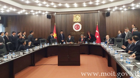 6th session of Vietnam – Turkey Joint Commission chaired by Minister Vu Huy Hoang